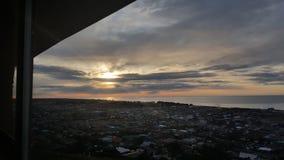 Atemberaubende versteckte Sonne Stockbild