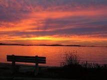 Atemberaubender Sonnenaufgang lizenzfreie stockfotos