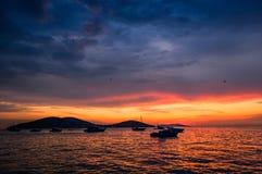 Atemberaubender Sonnenuntergang stockbild