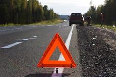 Atenção, acidente de tráfico! Imagens de Stock Royalty Free