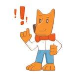 Atenção do cão dos desenhos animados Imagem de Stock Royalty Free
