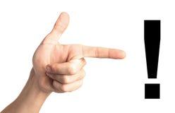 Atenção do dedo Imagens de Stock