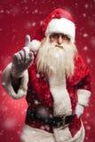 Atenção! Papai Noel está advertindo todas as crianças más Fotos de Stock Royalty Free