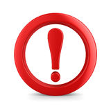 Atenção. sinal de tráfego no fundo branco Foto de Stock Royalty Free