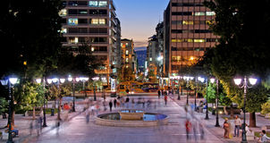 Aten Grekland, cityscape royaltyfri bild