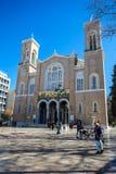 11 03 2018 Aten, Grekland - huvudsakligt kristet ortodoxt storstads- Royaltyfria Foton