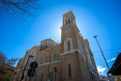 11 03 2018 Aten, Grekland - huvudsakligt kristet ortodoxt storstads- Royaltyfri Foto