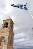 ATEN GREKLAND - JANUARI 20 2017: Kyrka av St George på den Lycabettus kullen i Aten, Grekland Royaltyfri Foto