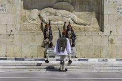 ATEN GREKLAND, MAJ 2018 Den grekiska presidents- vakten Arkivbild