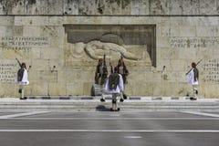 ATEN GREKLAND, MAJ 2018 Den grekiska presidents- vakten Arkivfoton