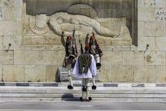 ATEN GREKLAND, MAJ 2018 Den grekiska presidents- vakten Fotografering för Bildbyråer