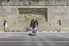 ATEN GREKLAND, MAJ 2018 Den grekiska presidents- vakten Arkivbilder