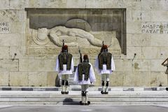 ATEN GREKLAND, MAJ 2018 Den grekiska presidents- vakten Royaltyfria Bilder