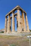 Aten Grekland, tempel av olympiska Zeus Arkivbild