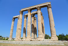 Aten Grekland, tempel av olympiska Zeus Royaltyfri Bild