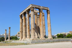 Aten Grekland, tempel av olympiska Zeus Royaltyfri Fotografi