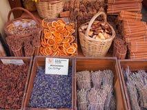 Aten kryddar shoppar Arkivfoton
