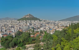 Aten och Mount Lycabettus, Grekland 2 Fotografering för Bildbyråer