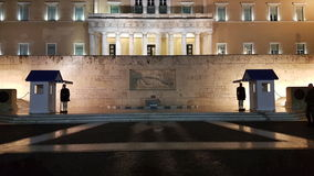 Aten Parlament Arkivfoton