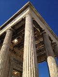 Aten Parthenon, Propylaea royaltyfria bilder