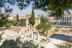 Aten. Roman Agora Royaltyfri Bild