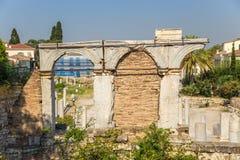 Aten. Roman Agora Royaltyfria Foton
