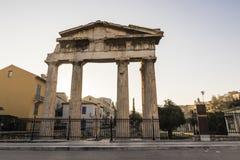Aten Roman Agora arkivfoto