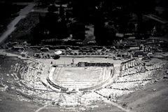 Atenas Греция Odeon Herodes Atico Стоковые Изображения