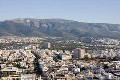 Atenas e montagem Hymettus Imagens de Stock Royalty Free