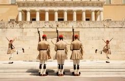 Atenas, el cambio del guardia Fotografía de archivo