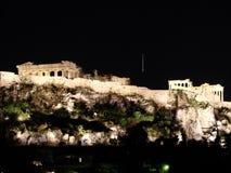 Atenas em a noite Imagens de Stock Royalty Free