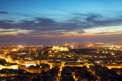 Atenas en la noche Fotografía de archivo libre de regalías