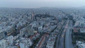 Atenas en la oscuridad, visión aérea almacen de video