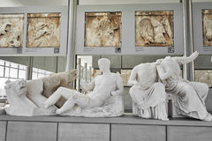 ATENAS, GRÉCIA - 25 DE FEVEREIRO DE 2016: Mim vista interior do A novo Imagens de Stock