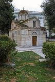 ATENAS, GRÉCIA - 20 DE JANEIRO DE 2017: Vista surpreendente da igreja de Agios Eleftherios em Atenas, Fotos de Stock