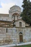 ATENAS, GRÉCIA - 20 DE JANEIRO DE 2017: Vista surpreendente da igreja de Agios Eleftherios em Atenas Imagens de Stock Royalty Free