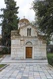 ATENAS, GRÉCIA - 20 DE JANEIRO DE 2017: Vista surpreendente da igreja de Agios Eleftherios em Atenas, Attica Imagens de Stock Royalty Free