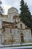 ATENAS, GRÉCIA - 20 DE JANEIRO DE 2017: Vista surpreendente da igreja de Agios Eleftherios em Atenas, Attica Foto de Stock