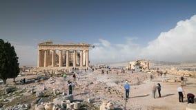 Atenas, Grécia - 15 de novembro de 2017: Templo do Partenon na acrópole ateniense filme