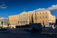 ATENAS, GRECIA - 19 DE ENERO DE 2017: El parlamento griego en Atenas, Grecia Fotos de archivo libres de regalías