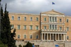 ATENAS, GRECIA - 20 DE ENERO DE 2017: El parlamento griego en Atenas, Grecia Imagen de archivo