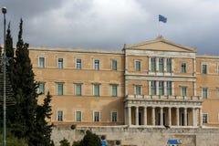 ATENAS, GRECIA - 20 DE ENERO DE 2017: El parlamento griego en Atenas, Grecia Fotografía de archivo libre de regalías