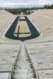 ATENAS, GRECIA - 20 DE ENERO DE 2017: Vista asombrosa del estadio o del kallimarmaro de Panathenaic en Atenas Foto de archivo