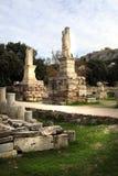 Atenas, Grecia - el ágora y la acrópolis Imagenes de archivo