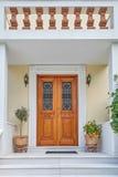 Atenas Grecia, entrada elegante de la casa Fotografía de archivo