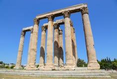 Atenas, Grecia, templo de Zeus olímpico Imagen de archivo libre de regalías