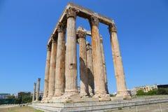 Atenas, Grecia, templo de Zeus olímpico Imágenes de archivo libres de regalías