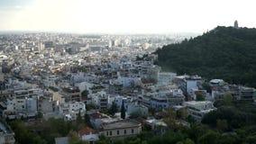 Atenas, Grecia Una vista de la ciudad almacen de metraje de vídeo