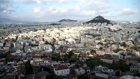 Atenas, Grecia Una vista de la ciudad de la acrópolis metrajes