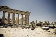 Atenas Grecja Odeon Herodes Atico Obraz Royalty Free